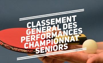 Classement général des performances championnat seniors