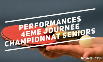 Performances 4eme journée championnat seniors