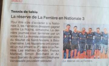 On en parle aujourd'hui dans Ouest France !!