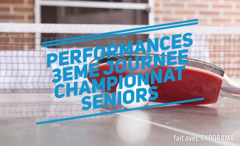 Performances 3ème journée championnat séniors