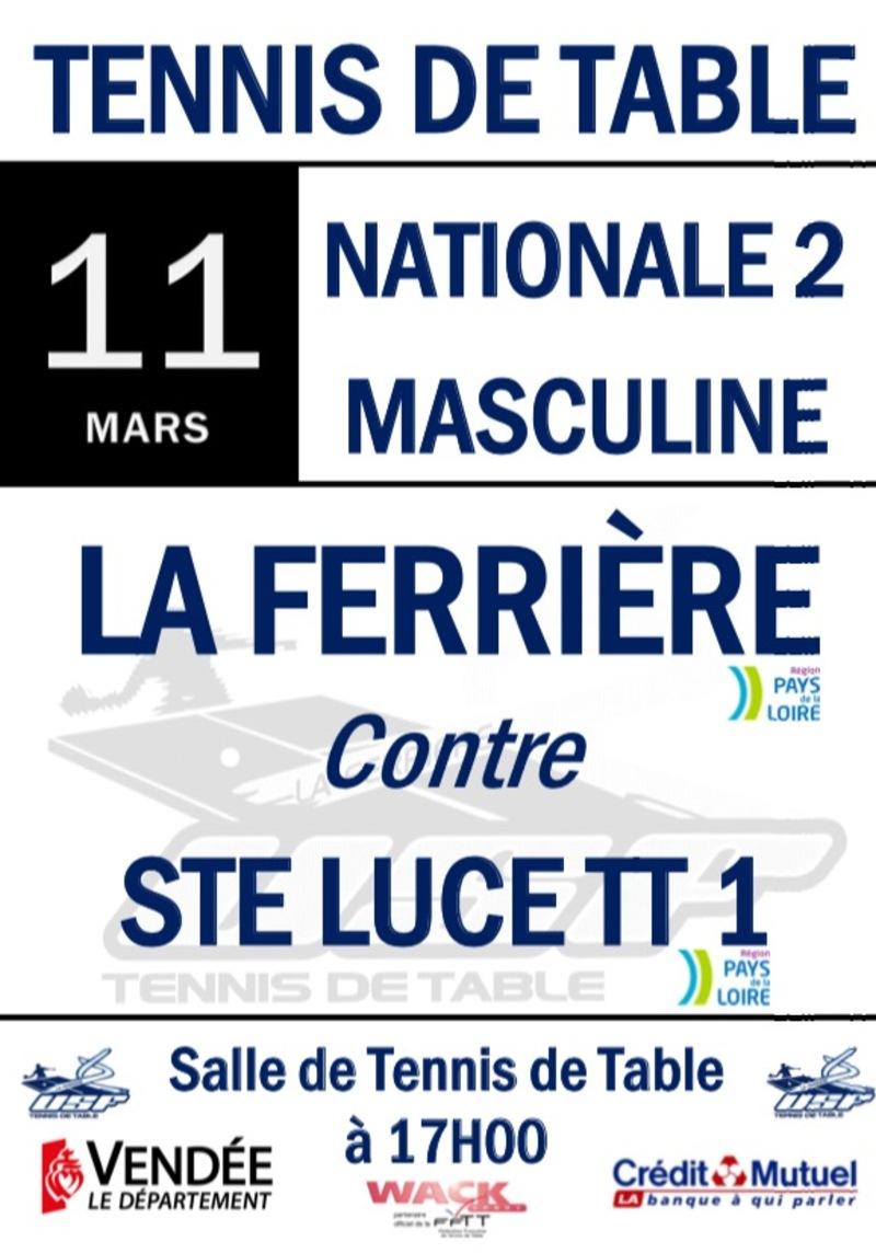 NATIONALE 2: La Ferrière vs Ste Luce TT 1 1