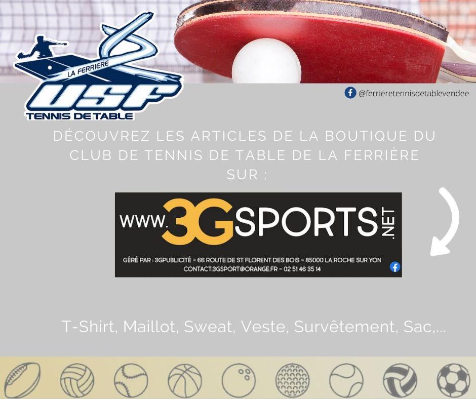 Boutique officielle de l'USFTT